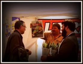 Premier mai : stand de Liberté Hebdo