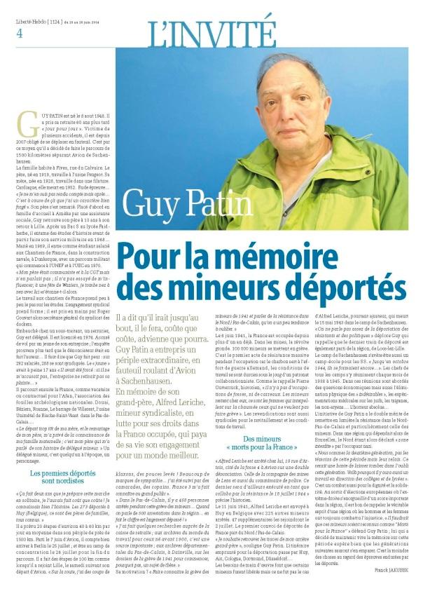 Invité Guy Patin